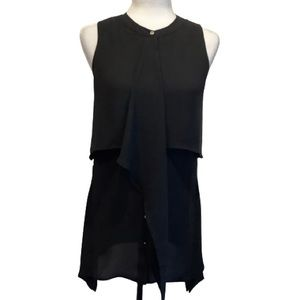 CLEO SLEEVELESS BUTTON DOWN TOP